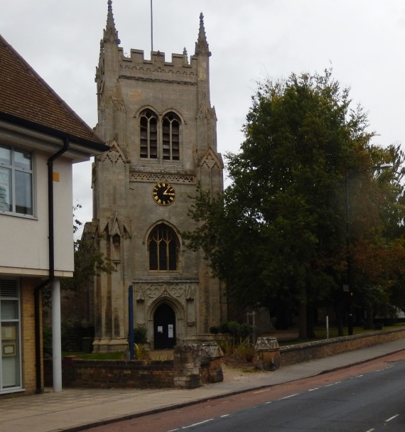 Entrance to Saint Mary's Church Huntingdon