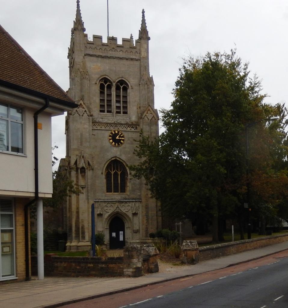 Entrance to Saint Mary's Church Huntingdon