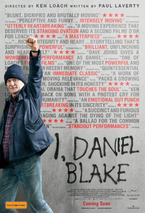 Poster for the film I Daniel Blake