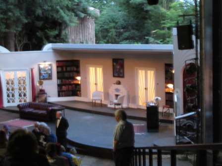 A photo of the fantastically well-constructed set for Blithe Spirit.