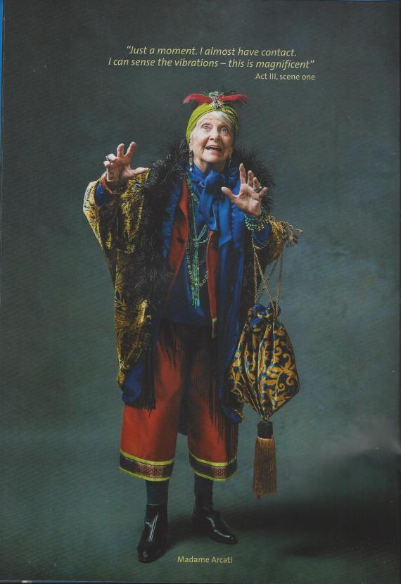 Madame Arcardi, Blithe Spirit Stamford Shakespeare Company 2019 production. (Scan from the programme)