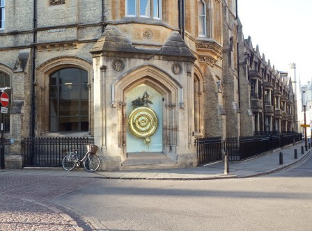 Graashopper clock at Corpus Christi College